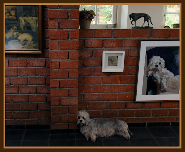 Life reflecting Art ~some dogs know how to pose.