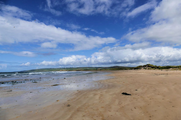 One of those crowded Scottish Beaches