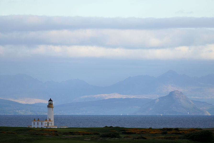 The Lighthouse re-interpreted ~ Scotland being mystical, reflecting the morning sun